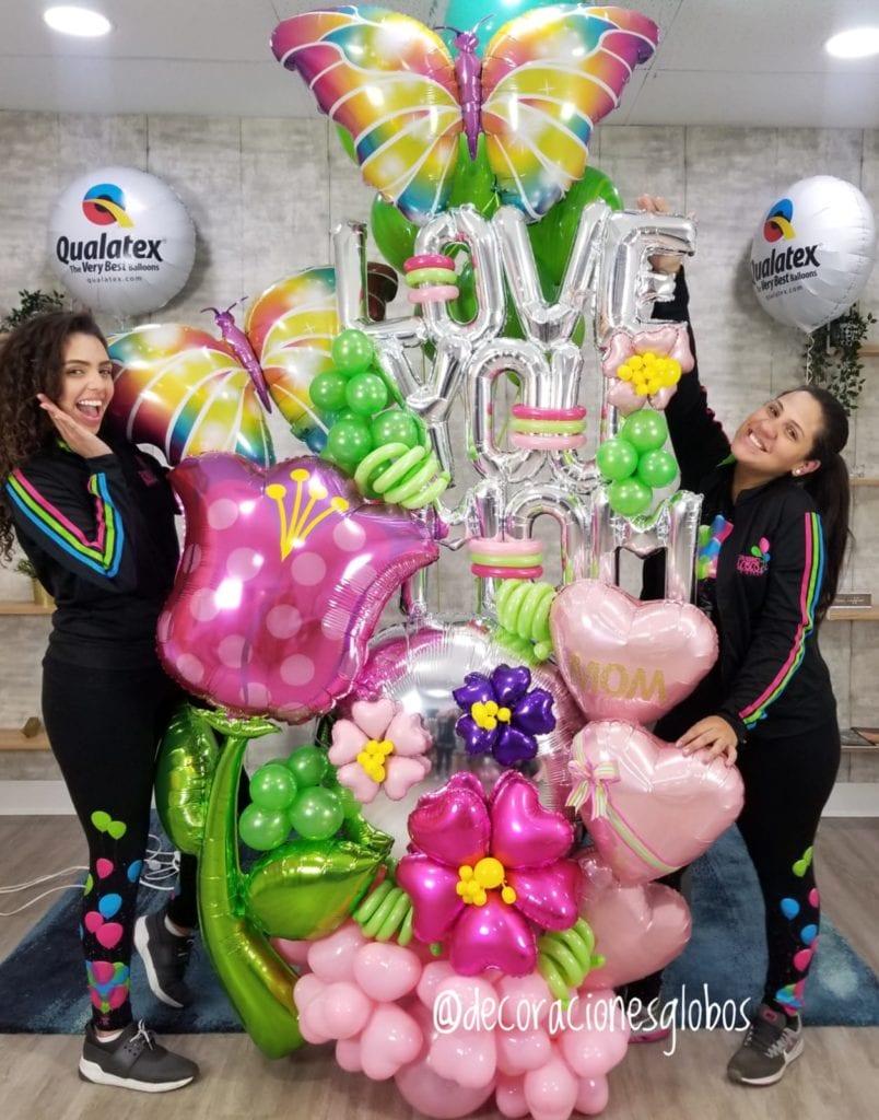 Balloon Bouquets Love You Mom Decoraciones Globos