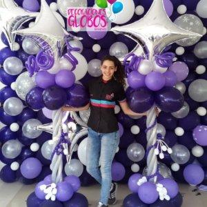 columns balloons Fancy - www.decoracionesglobos.com miami venezuela
