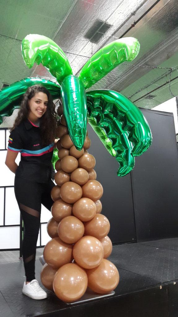 columns balloons Palmeras- www.decoracionesglobos.com miami venezuela