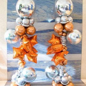 columns balloons Aniversario - www.decoracionesglobos.com miami venezuela
