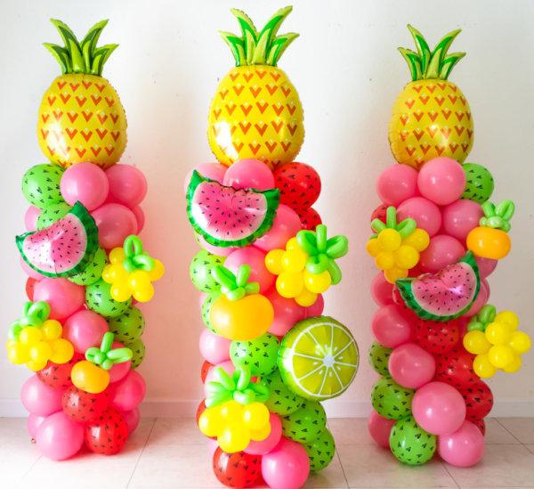 columns balloons Frutas - www.decoracionesglobos.com miami venezuela