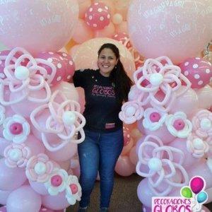 baby girl - www.decoracionesglobos.com miami venezuela -