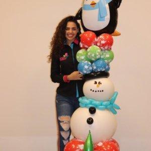 columns balloons Navidad- www.decoracionesglobos.com miami venezuela