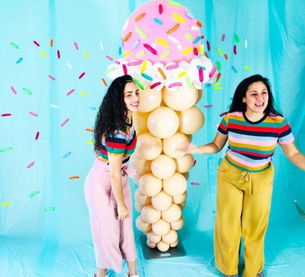 columns balloons Barquilla- www.decoracionesglobos.com miami venezuela