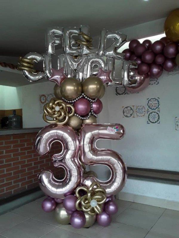 columns birthday - www.decoracionesglobos.com miami venezuela