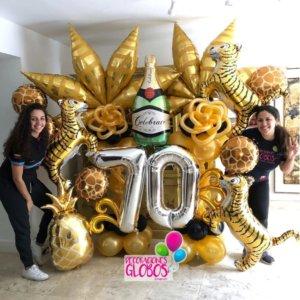 columns balloons Fantastico - www.decoracionesglobos.com miami venezuela