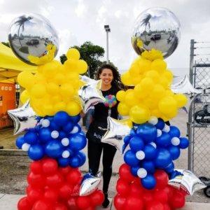columns balloons Organico - www.decoracionesglobos.com miami venezuela