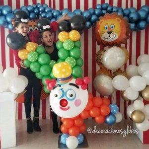 columns balloons Payaso- www.decoracionesglobos.com miami venezuela