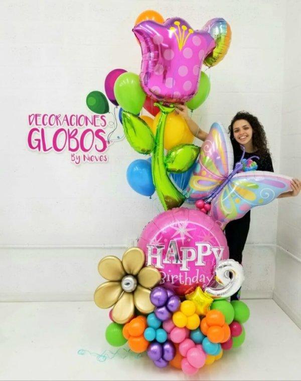Bouquets Bronce HBD Birthday DecoracionesGlobos.com Miami Venezuela Bouquets Decoraciones