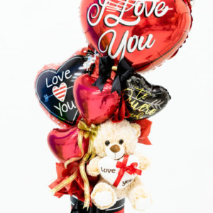 Bouquets Valentines Teddy Surprise