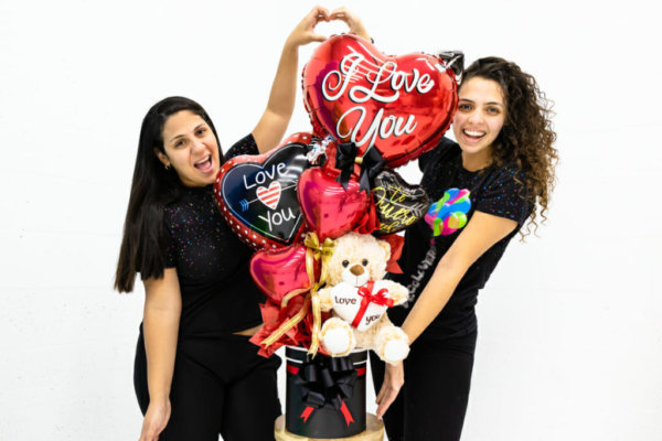 Bouquets Valentines Teddy Surprise