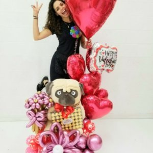 Amor Perruno Bouquet balloon bounches boy play games @decoracionesglobos bouquets decorations boy girls stars blue pink purple miami