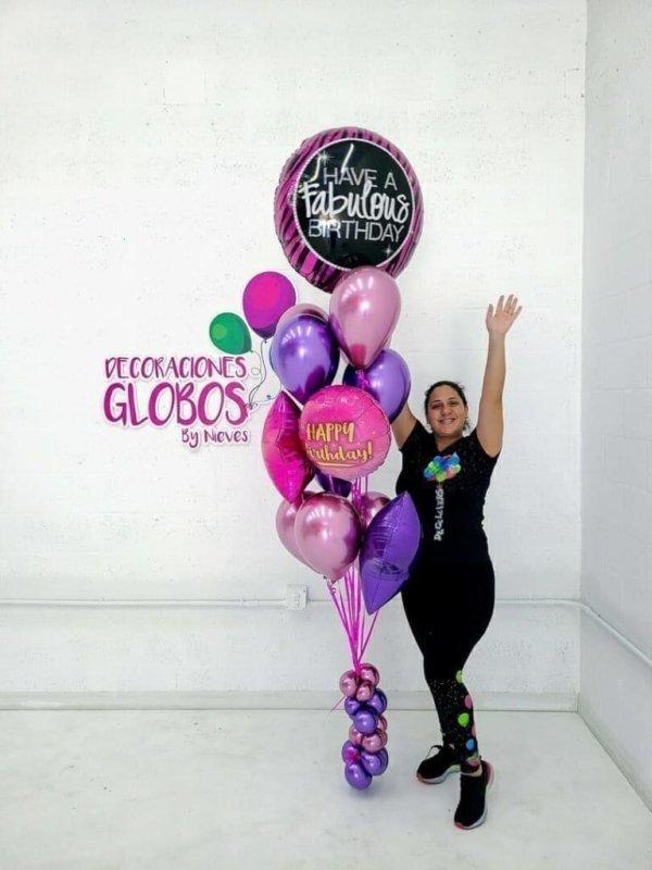 balloon bunches fabolus birthday DecoracionesGlobos.com Miami Venezuela Bouquets Decoraciones