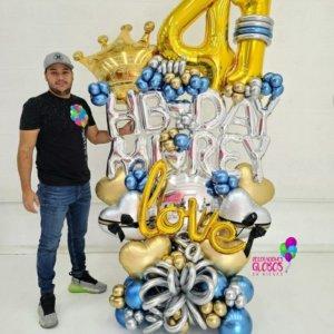 Bouquet Favorite Men 297.70 Birthday DecoracionesGlobos.com Miami Venezuela Bouquets Decoraciones