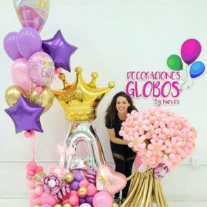 Mommy and baby Surprise 430 Birthday DecoracionesGlobos.com Miami Venezuela Bouquets Decoraciones