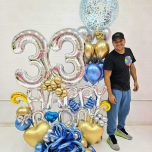 BOUQUET birthday Gold 264.70 @decoracionesglobos www.decoracionesglobos.com Birthday DecoracionesGlobos.com Miami Venezuela Bouquets Decoraciones