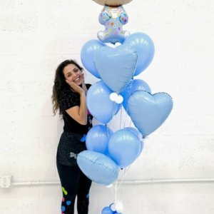 Balloon Bunches Baby Boy @decoracionesglobos www.decoracionesglobos.com Birthday DecoracionesGlobos.com Miami Venezuela Bouquets Decoraciones