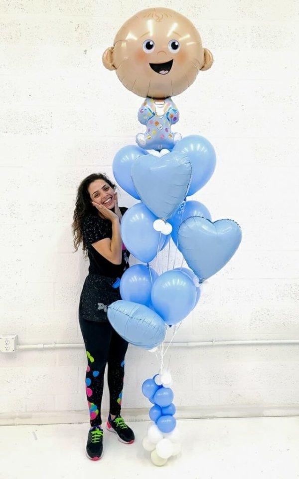 Balloon Bunches Baby Boy @decoracionesglobos www.decoracionesglobos.com Birthday DecoracionesGlobos.com Miami Venezuela Bouquets Decoraciones