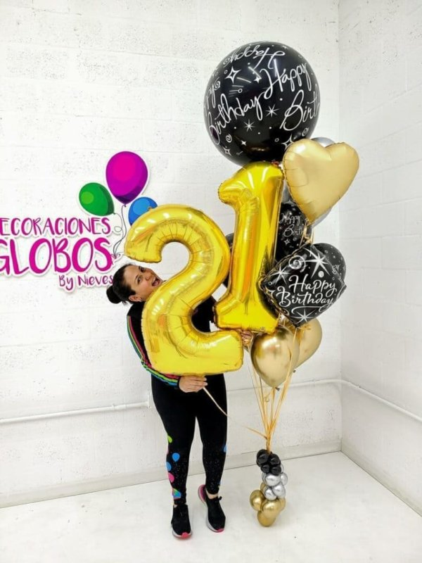 Balloon Bunches Happy Birthday Plus 94.70 @decoracionesglobos www.decoracionesglobos.com Birthday DecoracionesGlobos.com Miami Venezuela Bouquets Decoraciones