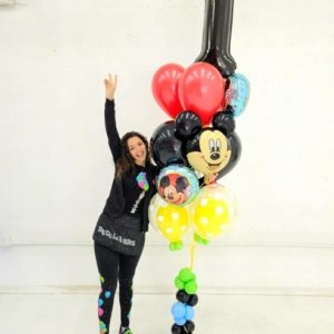 BALLOON BUNCHES MICKEY Birthday DecoracionesGlobos.com Miami Venezuela Bouquets Decoraciones