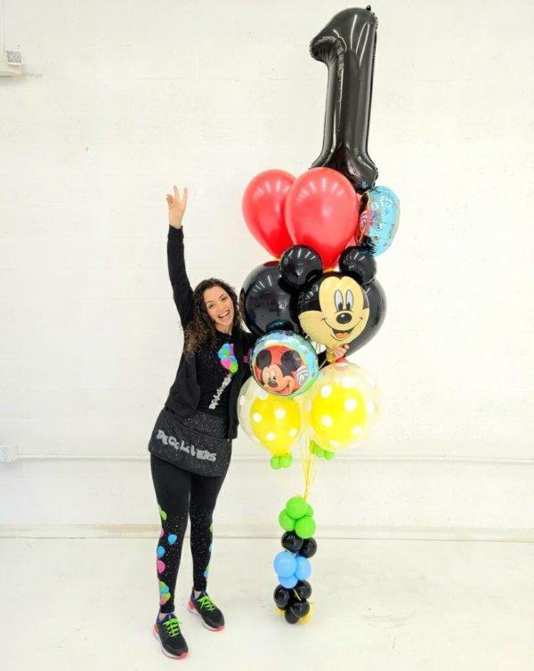 BALLOON BUNCHES MICKEY Birthday DecoracionesGlobos.com Miami Venezuela Bouquets Decoraciones