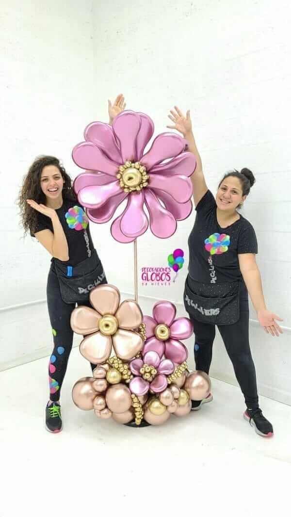 NUEVO Flowers Chrome 300 DECORACIONESGLOBOS GRADUATIONS GRADOS CELEBRACION FIESTA FELICITACIONES REGALOS DETALLES BOUQUETS BALLOONS