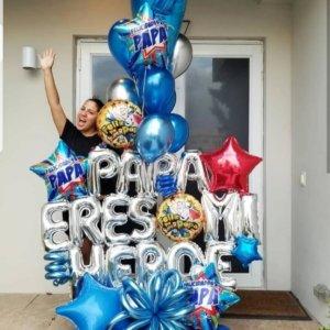 PAPA ERES MI HEROE Bouquet Balloon Decoraciones Globos Miami Caracas Decorations Trofeo Azul Feliz Regalo Dia del Padre Sorpresa Detalles Gift  el dia del padre regalos para el dia del padre regalos dia del padre regalos dia del padre regalos originales 5 regalos para el dia del padre regalos para dia del padre