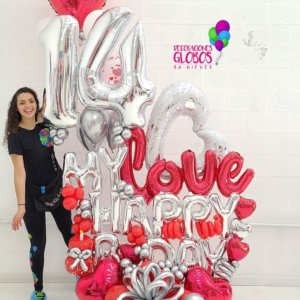 6-2 - Bouquet My love - Balloon Bouquets - Decoraciones Globos Miami Caracas