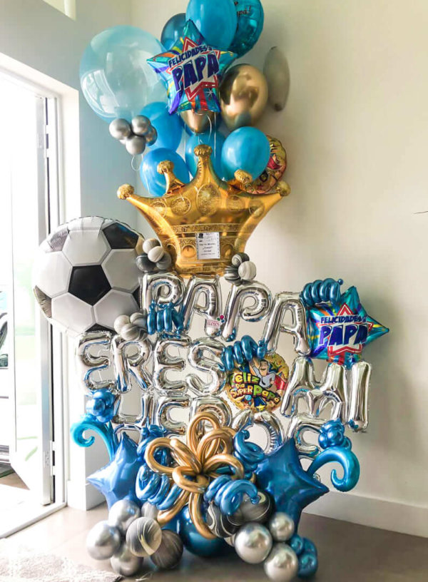 Bouquet Balloon Decoraciones Globos Miami Caracas Decorations Trofeo Azul Feliz Regalo Dia del Padre Sorpresa Detalles Gift  el dia del padre regalos para el dia del padre regalos dia del padre regalos dia del padre regalos originales 5 regalos para el dia del padre regalos para dia del padre