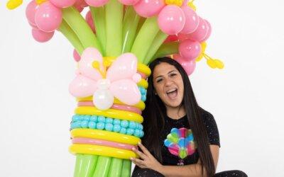 Contenido educativo publicado en peekabookidsmagazine – Tutorial para hacerle un regalo con globos a mamá