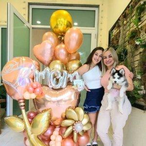 BALLOON BOUQUET ROSE GOLD DECORACIONESGLOBOS.COM MOTHER'S DAY DIA DE LAS MADRES DECORACIONES BALLOON BOUQUET