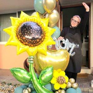 BALLOON BOUQUET MOM SUNFLOWER DECORACIONESGLOBOS.COM MOTHER'S DAY DIA DE LAS MADRES DECORACIONES BALLOON BOUQUET