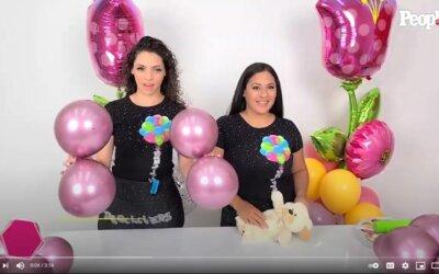 People en Español Youtube – Tutorial de como hacer un adorno con globos para el Día de las Madres