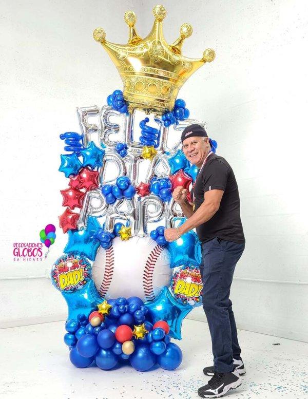 FELIZ DIA PAPA Bouquet Balloon Decoraciones Globos Miami Caracas Decorations Trofeo Azul Feliz Regalo Dia del Padre Sorpresa Detalles Gift el dia del padre regalos para el dia del padre regalos dia del padre regalos dia del padre regalos originales 5 regalos para el dia del padre regalos para dia del padre